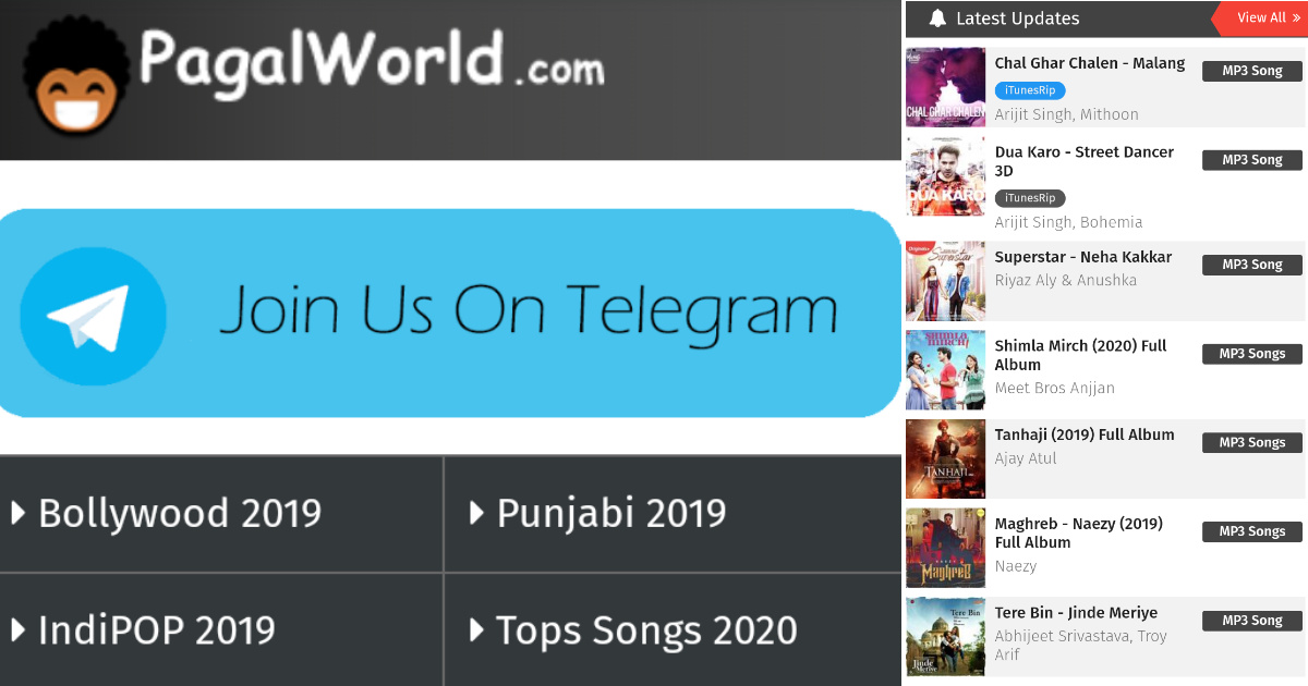 Pagalworld 2020 Download New Video Mp3 Song Ringtones And Movies