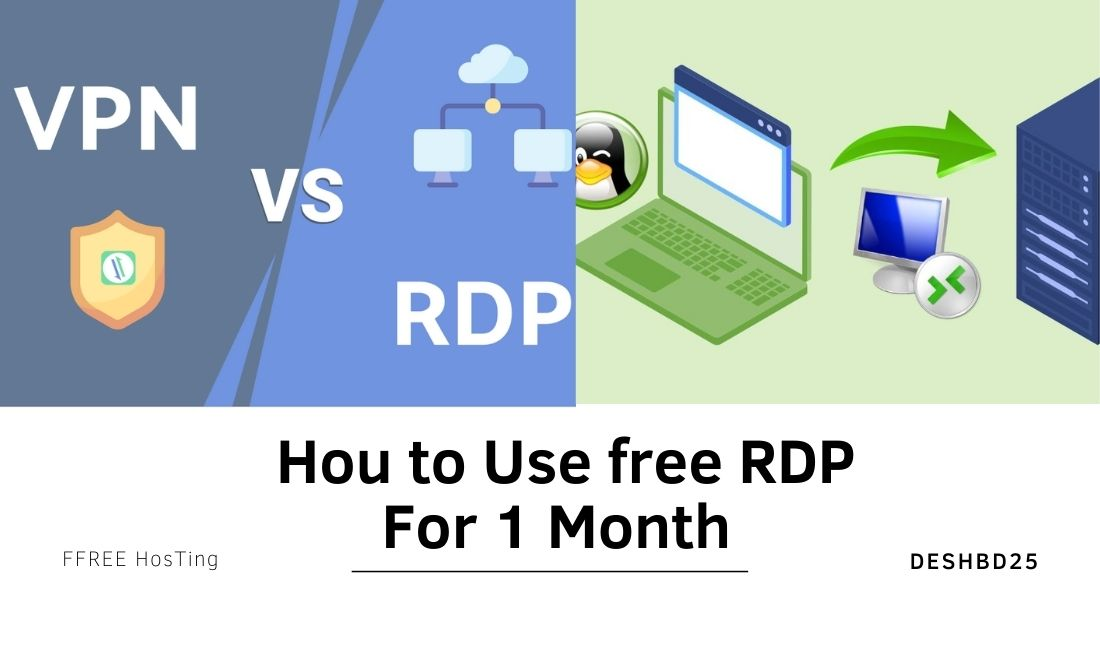 Hou to Use free RDP For 1 Month